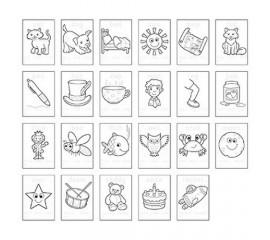 Carte de colorat in limba engleza si abtibilduri Primele cuvinte