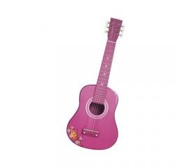 Chitara din lemn 65 cm., culoare roz