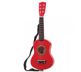 Chitara rosie pentru copii - 59 cm