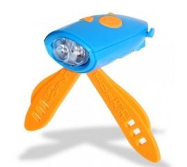 Claxon Mini Hornit cu lumina - albastru si portocaliu
