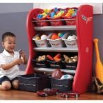 Etajera pentru copii cu rafturi si cutii organizare Corvette