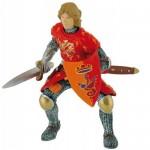 Figurina Cavaler cu sabie rosu