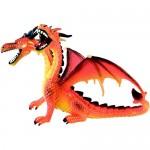 Figurina Dragon portocaliu, orange cu 2 capete