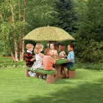 Masuta cu umbrela Naturally Playful - Varianta Recolor