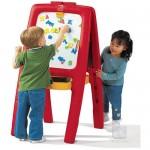Tabla dubla pentru copii - Easel for Two - Culoare Rosu
