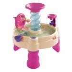 Masuta de joaca roz cu apa - Spirala - Little Tikes