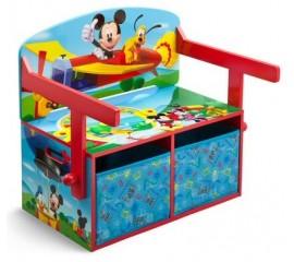 Mobilier 2 in 1 pentru depozitare jucarii Disney Mickey Mouse