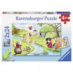 Puzzle Animale Jucause, 2x24 Piese