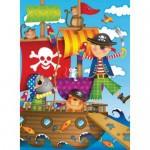 Puzzle Aventura Piratilor, 100 Piese