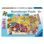 Puzzle Brigada de Pompieri, 3x49 Piese