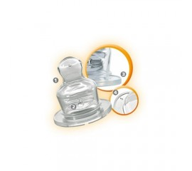 Tetina ortodontica silicon, nr 2 nip 33011