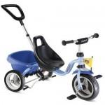 Tricicleta bleu cu maner - Puky