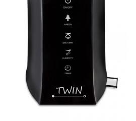 Umidificator cu ionizare si difuzor arome TWIN negru, Airbi BI3221